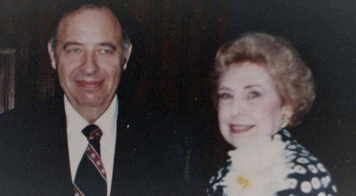 Edith Fae Cook Cole attends the first Historical Committee meeting, held in the early to mid-1990Â?'s, with her husband Charles.