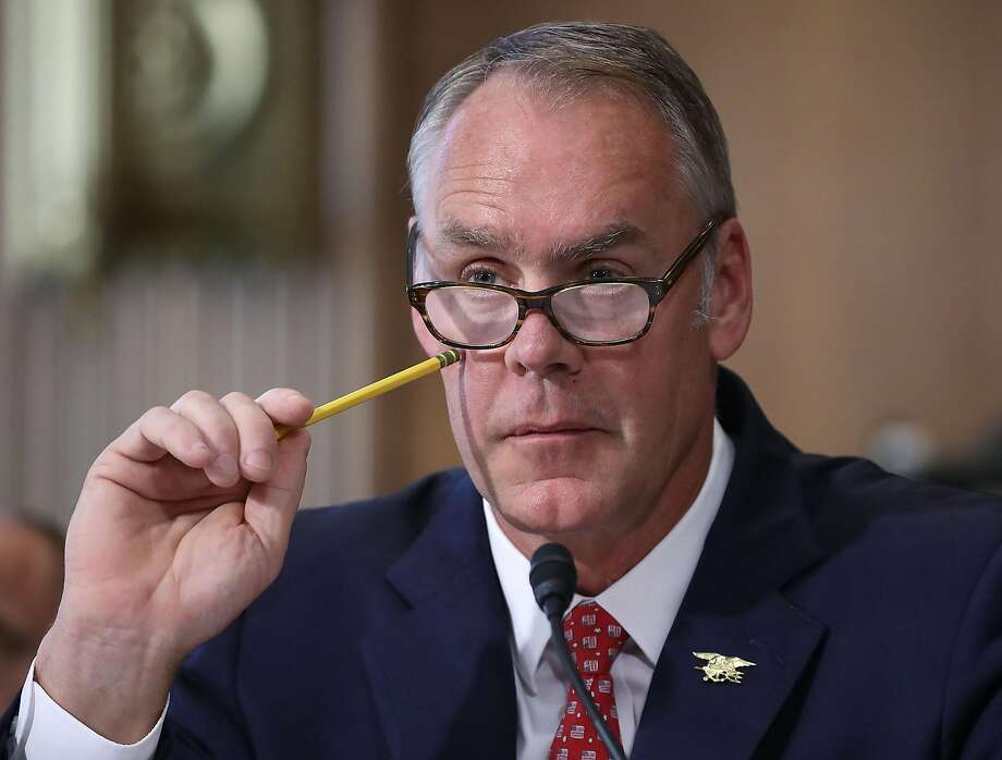 Interior Secretary Ryan Zinke listens to a question during a Senate Energy and Natural Resources Committee hearing on Capitol Hill, on June 20, 2017 in Washington, DC. Photo: Mark Wilson, Getty Images