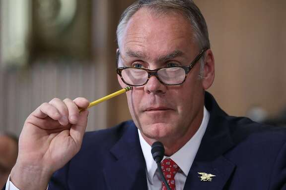 WASHINGTON, DC - JUNE 20:  Interior Secretary Ryan Zinke listens to a question during a Senate Energy and Natural Resources Committee hearing on Capitol Hill, on June 20, 2017 in Washington, DC. The committee heard testimony on U.S. President Donald Trump's proposed FY2018 budget request for the Interior Department.  (Photo by Mark Wilson/Getty Images)