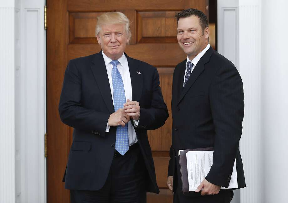 Kansas Secretary of State Kris Kobach, a member of President Trump's commission on election integrity, is asking state officials for detailed information about voters. Photo: Carolyn Kaster, Associated Press