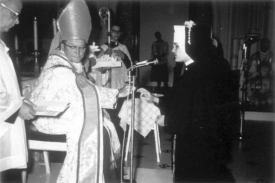 Archbishop Lucey presided over the final vows of Mary Jo Shaw. It was Aug. 2, 1965. (Courtesy of Shaw's archives.) Photo: Courtesy Of Mary Jo Shaw