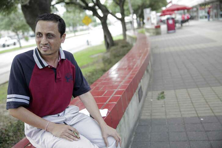 Himanshu Sipani, who lives in India, talks about touring the University of Houston for his son with hopes of registering him for the spring semester on Tuesday, June 13, 2017, in Houston. ( Elizabeth Conley / Houston Chronicle )