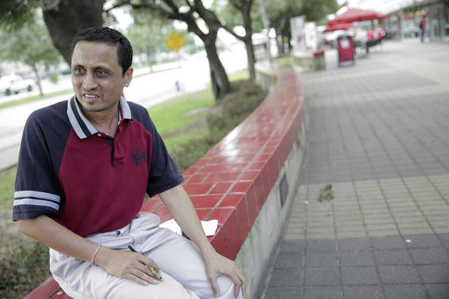 Himanshu Sipani, who lives in India, talks about touring the University of Houston for his son with hopes of registering him for the spring semester on Tuesday, June 13, 2017, in Houston. ( Elizabeth Conley / Houston Chronicle ) Photo: Elizabeth Conley, Staff / Houston Chronicle / © 2017 Houston Chronicle