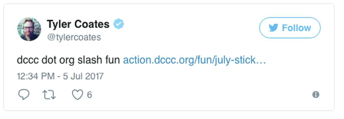 Twitter users react to the Democratic Congressional Campaign Committee's proposed bumper stickers.