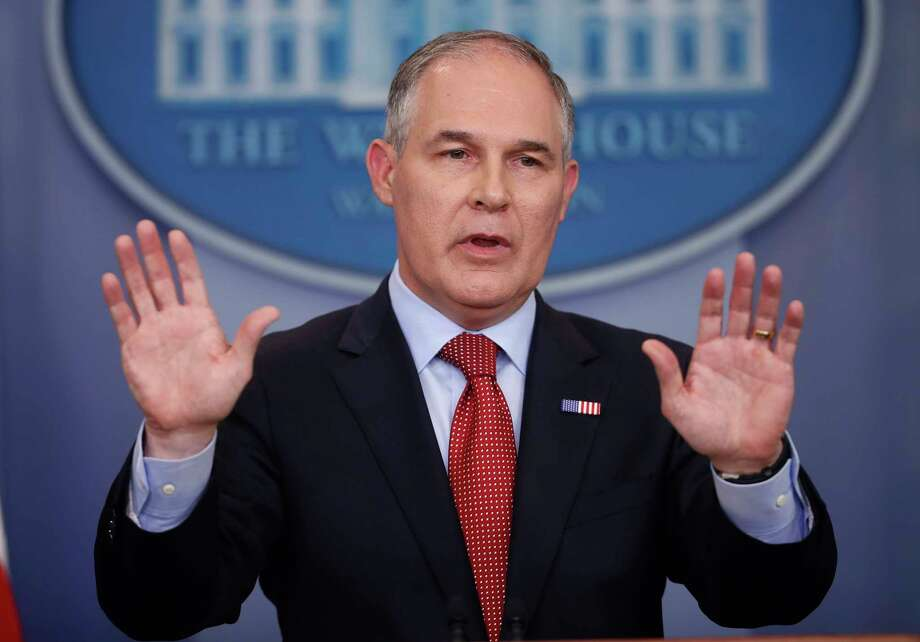 EPA Administrator Scott Pruitt speaks to the media on June 2 during the daily briefing at the White House. (AP Photo/Pablo Martinez Monsivais, File) Photo: Pablo Martinez Monsivais, STF / Copyright 2017 The Associated Press. All rights reserved.