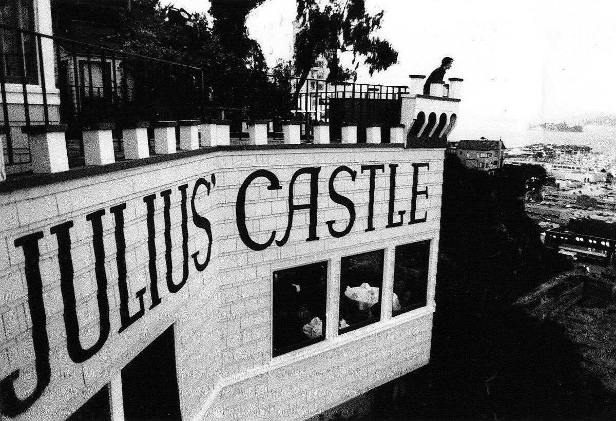 "JULIUS"" CASTLE A HISTORIC LANDMARK AND A RESTAURANT IN SAN FRANCISCO."