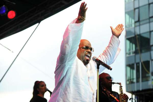 Five-time Grammy Award winner CeeLo Green performs during the first Alive@Five summer concert in Columbus Park in downtown Stamford, Conn. on Thursday, July 6, 2017.