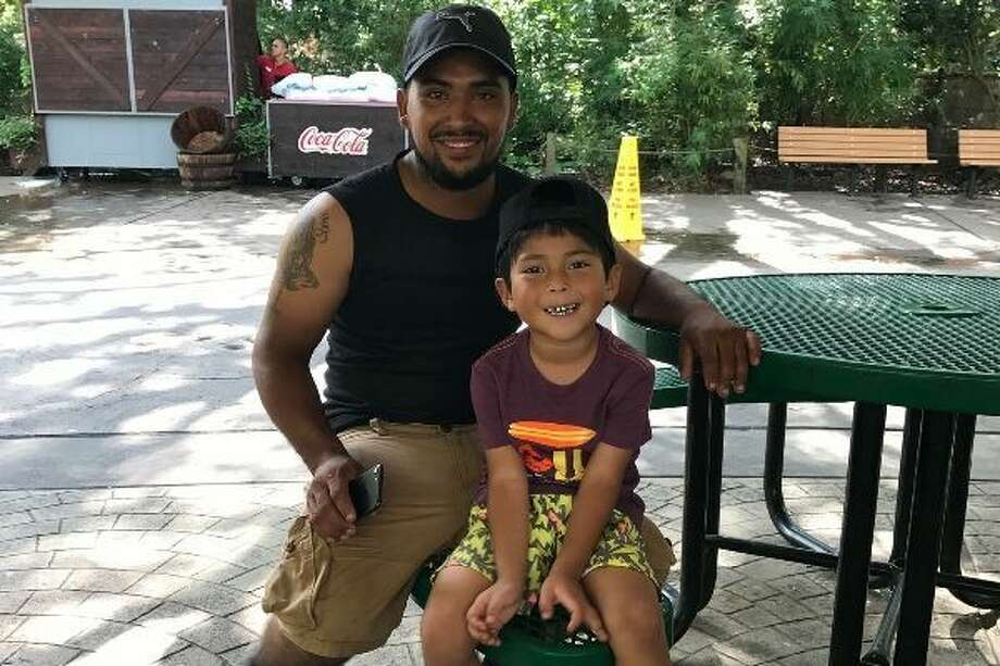 Rufino Suarez, 27, recently drowned on Galveston Island while trying to save his five-year-old son after theirkayak flipped over.