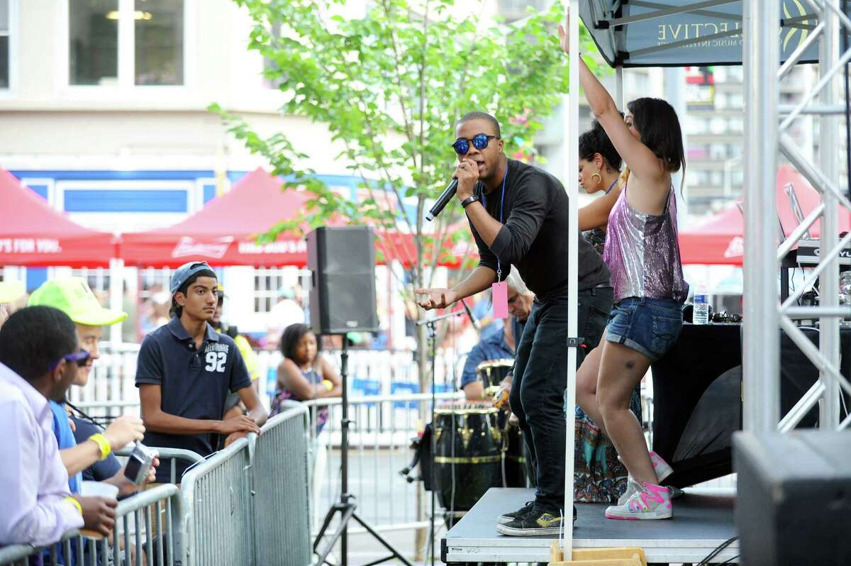 Photos from the summer's first Alive@Five concert, featuring five-time Grammy Award winner CeeLo Green, in Columbus Park in downtown Stamford, Conn. on Thursday, July 6, 2017.