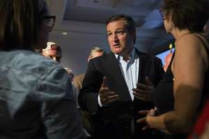 AUSTIN, TX - JULY 6:  Sen. Ted Cruz (R-TX) discusses issues with concerned citizens after holding a town hall meeting on July 6, 2017 in Austin, Texas. (Photo by Erich Schlegel/Getty Images)