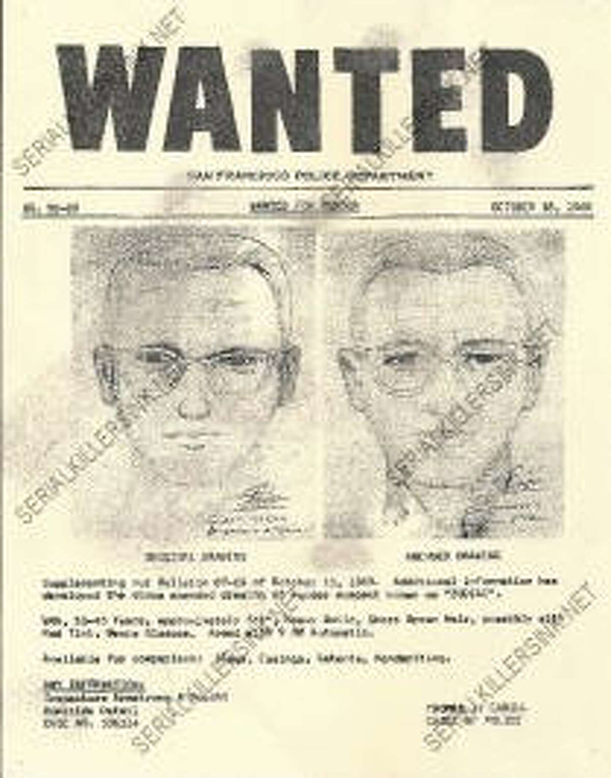 One of the newly listed items on Serial Killers Ink is an original WANTED poster for the still unidentified Zodiac Killer.