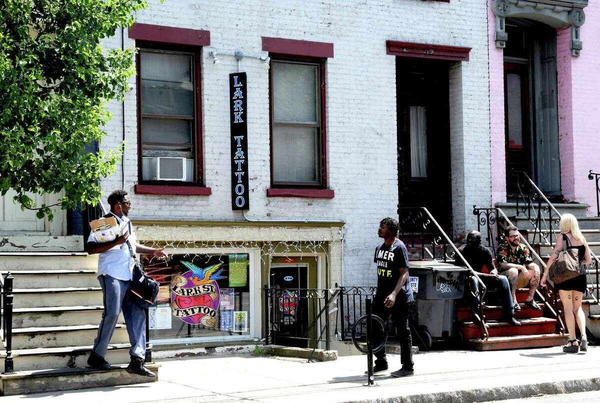 Lark Street Tattoo at 278 Lark Street on Thursday June 2, 2016 in Albany, N.Y. (Michael P. Farrell/Times Union)