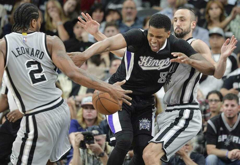 New Spurs forward Rudy Gay won't miss Sacramento. Photo: Darren Abate / Associated Press / FR115 AP