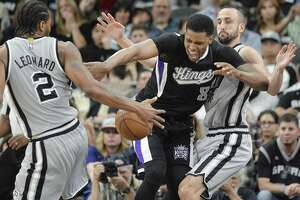 New Spurs forward Rudy Gay won't miss Sacramento.