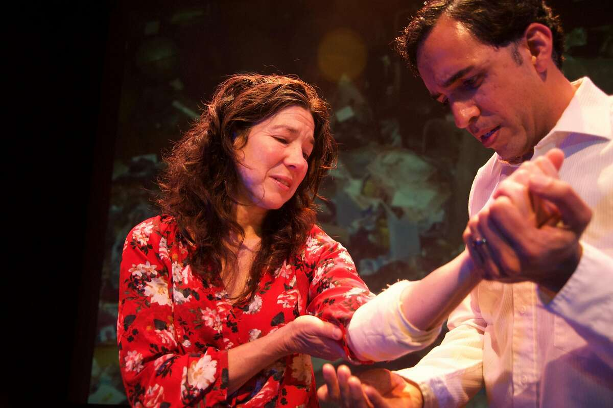 From let: Michele Aprin~a Leavy as Consuelo Alfaro and Gabriel Montoya as Eugenio Alfaro in