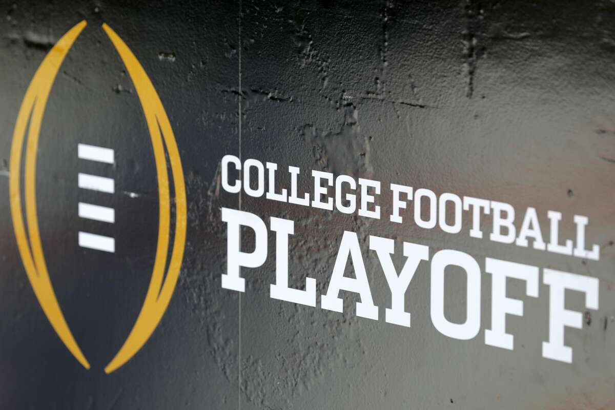 TAMPA, FL - JANUARY 09: The College Football Playoff logo is seen before the 2017 College Football Playoff National Championship Game at Raymond James Stadium on January 9, 2017 in Tampa, Florida. (Photo by Streeter Lecka/Getty Images)