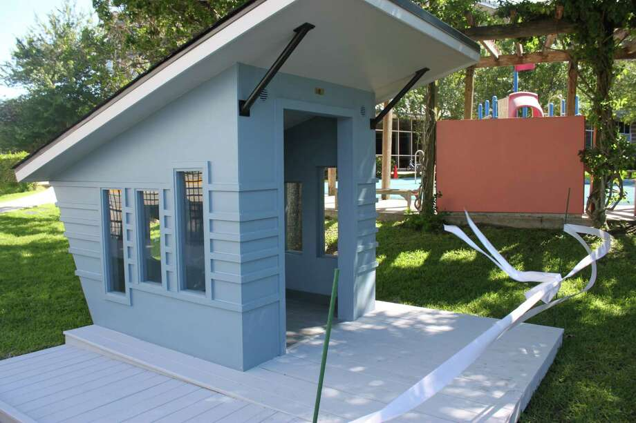 This playhouse was designed and built for the Ronald McDonald House of Houston. Photo: Courtesy Of On Point Custom Homes