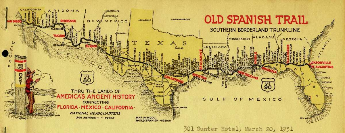 Old Spanish Trail map from 1931.