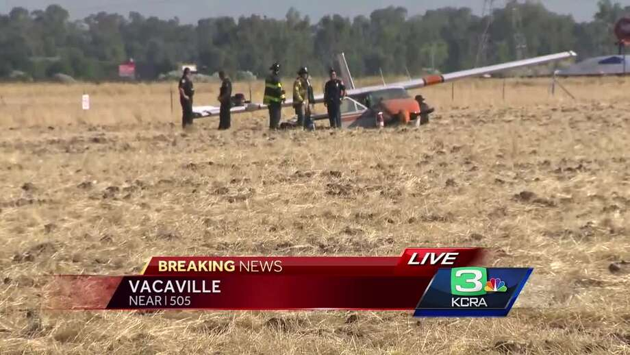Investigators were on the scene of a small plane crash Friday in Vacaville.  Photo: KCRA