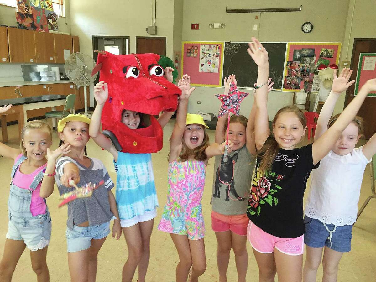 Campers participate in the Let's Put on a Show! program at the Darien Arts Center. The next session of the art, dance and theater production camp, for grades 1-4, runs from July 10 through July 28.