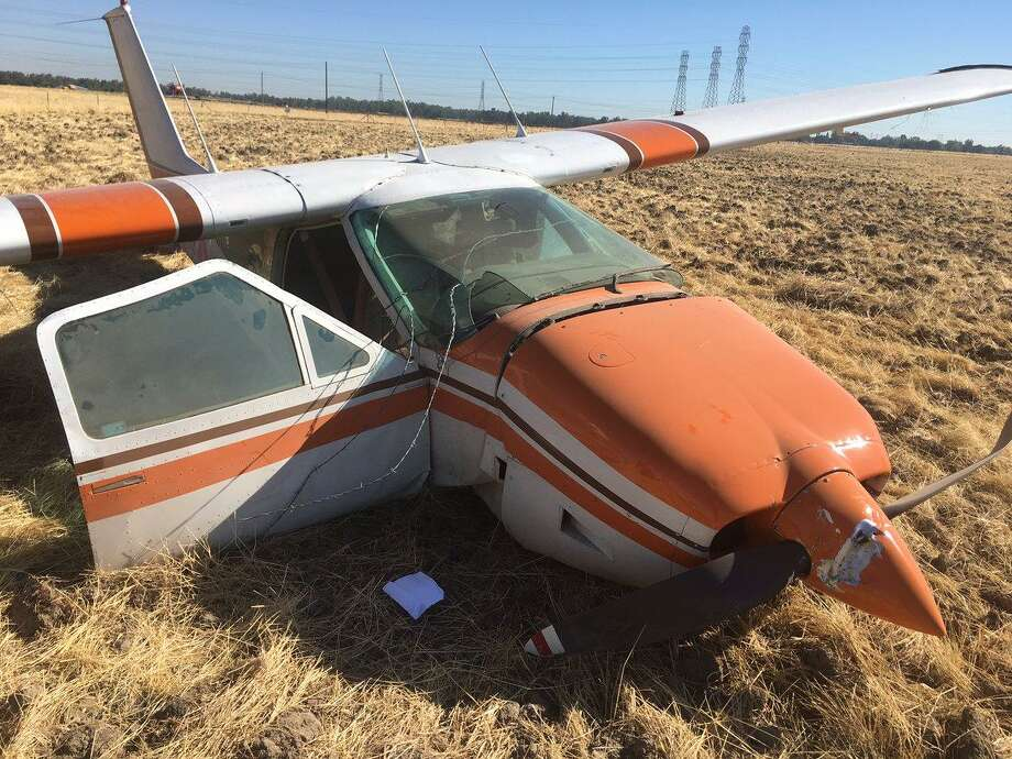 The pilot of this small plane that crashed in a field in Vacaville Friday morning walked away with minor injuries, officials said. Photo: Courtesy City Of Vacaville / /