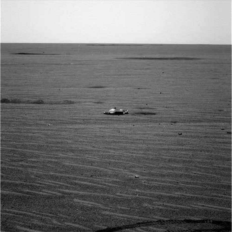 The mysterious object seen on Mars that led to speculation of alien spacecraft on the Red Planet. Photo:  NASA/JPL/Cornell