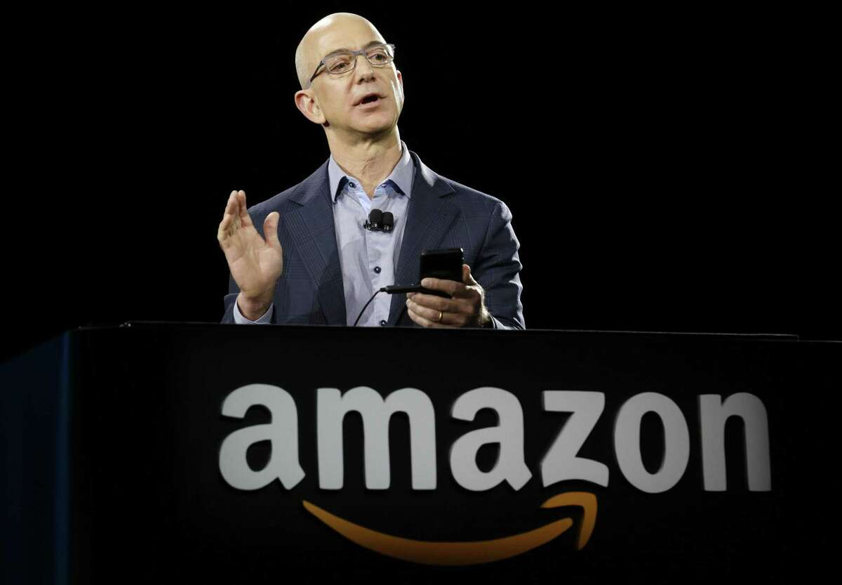 File photo of Amazon.com CEO Jeff Bezos. San Antonio and Bexar County made a public show in October of bowing out of the bidding process for Amazon's next home, a $5 billion second headquarters dubbed HQ2 that sent state and local officials across the nation into a frenzy. Amazon promised 50,000 new jobs that paid an average of more than $100,000 a year to the winning municipality.