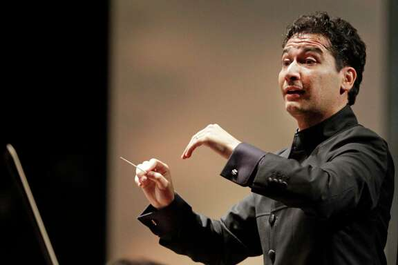 Music director Andres Orozco-Estrada came to the Houston Symphony during Mark Hanson's tenure.