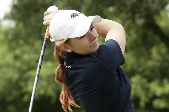 University of Texas at San Antonio golfer Nikki Long practices at Briggs Ranch Golf Club, Monday, July 3, 2017.
