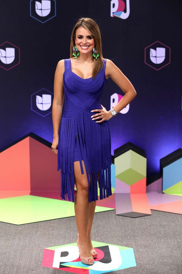 """Worst:Carolina Sarossa, leave the fringe behind next time. Keep clicking to see which celebrities were named the best and worst dressed at the 2017 """"Premios Juventud."""" Photo: Alexander Tamargo/Getty Images For Univision"""