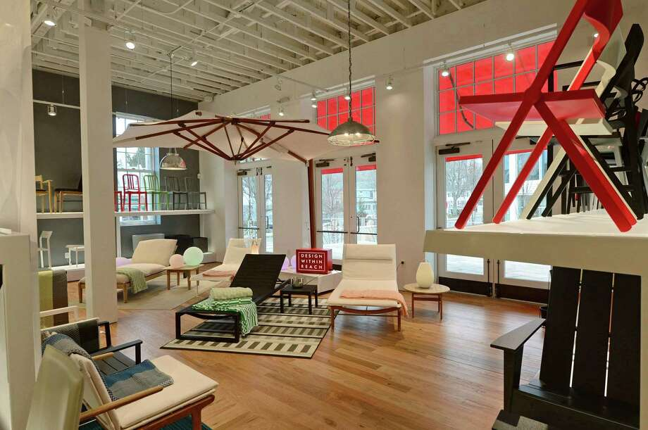 A Design Within Reach store after its February 2017 opening in Westport, Conn. New orders were up 19 percent in the spring of 2017 for DWR, which is based in Stamford as a subsidiary of Herman Miller. Photo: Erik Trautmann / Hearst Connecticut Media / Norwalk Hour