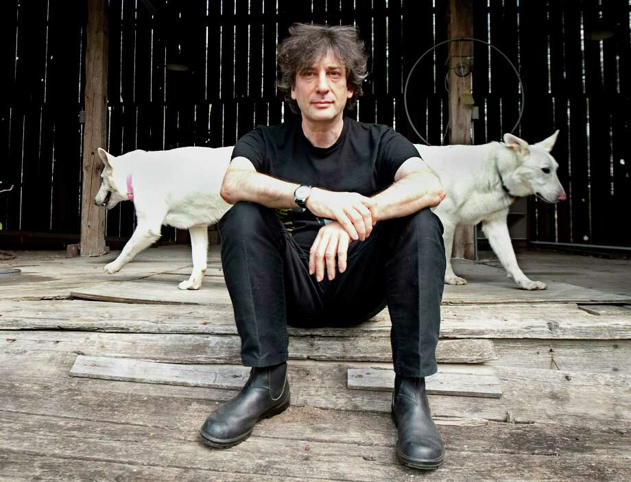 In this April 23, 2010 photo, best-selling author Neil Gaiman, 49, sits in his writing gazebo at his home in western Wisconsin.  (AP Photo/Craig Lassig) Photo: Craig Lassig, FRE / FR52664 AP