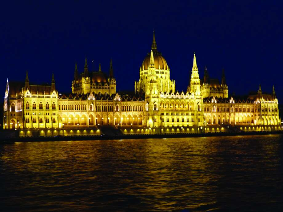 Parliament at night viewed from the Danube Photo: For The Edge