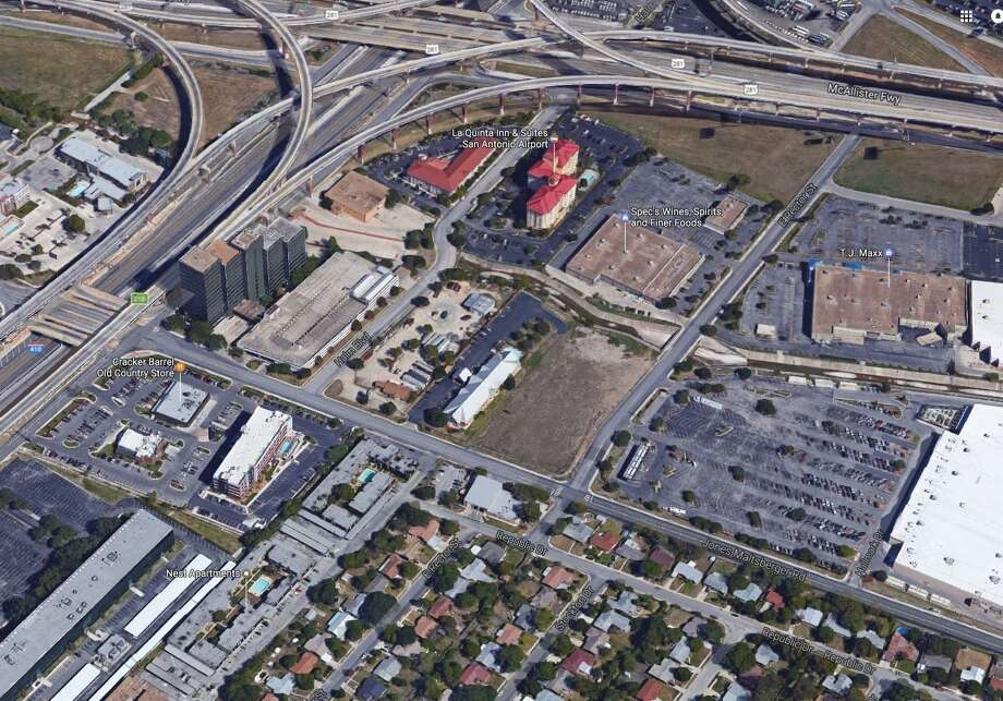 EG Tejas, a company that Whataburger President and CEO Preston Atkinson and three other executives created in June of last year, bought 11.5 acres at the crossing of Loop 410 and US 281 last week. Photo: Google Maps