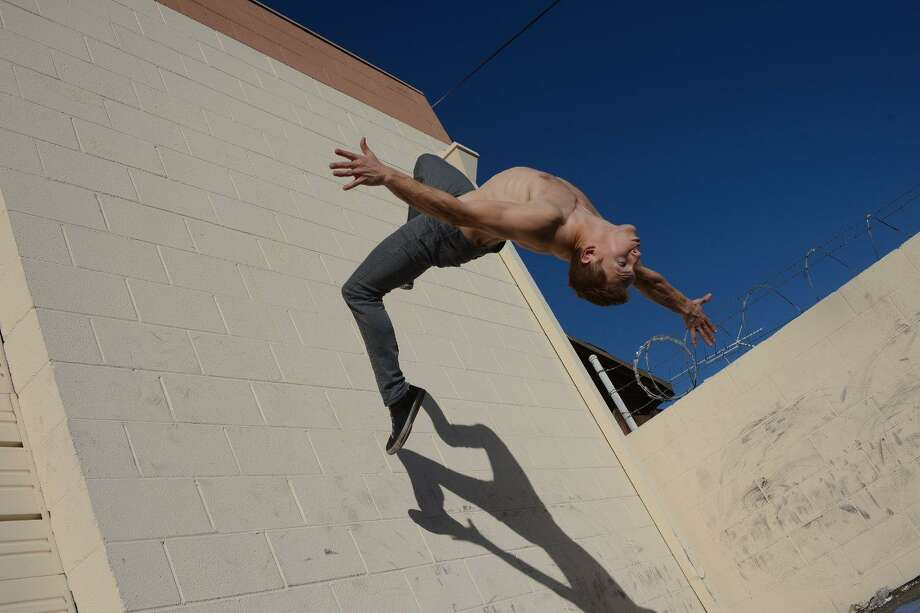 """San Antonio native Chris Silcox, a very flexible actor and stuntman, doubled for """"Spider-Man: Homecoming"""" star Tom Holland in the movie's action scenes. Photo: Courtesy Chris Silcox"""