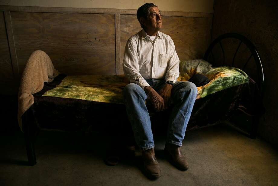 Gorgonlo Gomez Figueroa photographed in his room at the River Ranch Farm Workers Housing in St. Helena, Calif. on Thursday, July 6, 2017. Photo: Mason Trinca, Special To The Chronicle