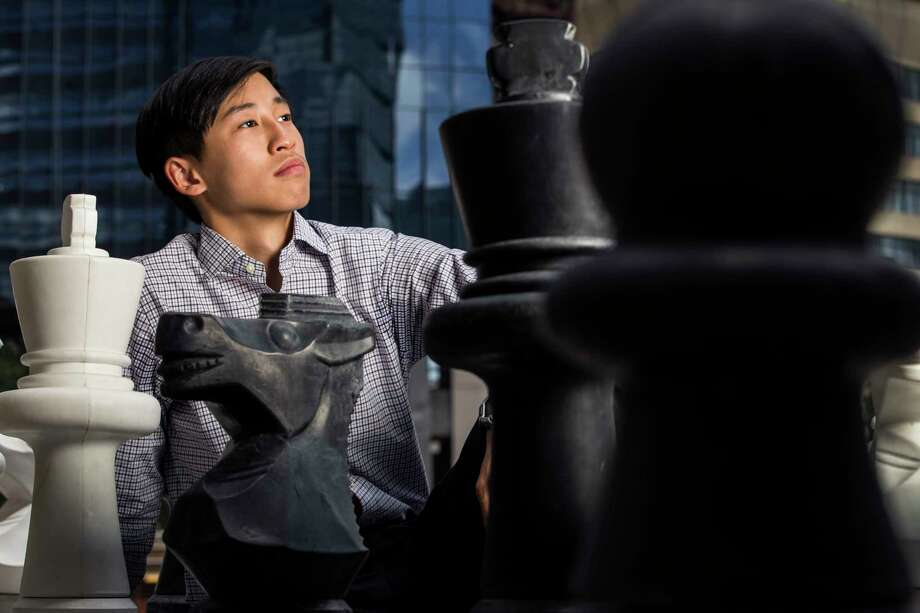 Bovey Liu, 15, a student at Carnegie Vanguard High School, poses for a portrait on Thursday, July 6, 2017, in Houston. Liu is one of 10 teenagers competing at the U.S. Junior Championships of Chess. Photo: Brett Coomer, Houston Chronicle / © 2017 Houston Chronicle