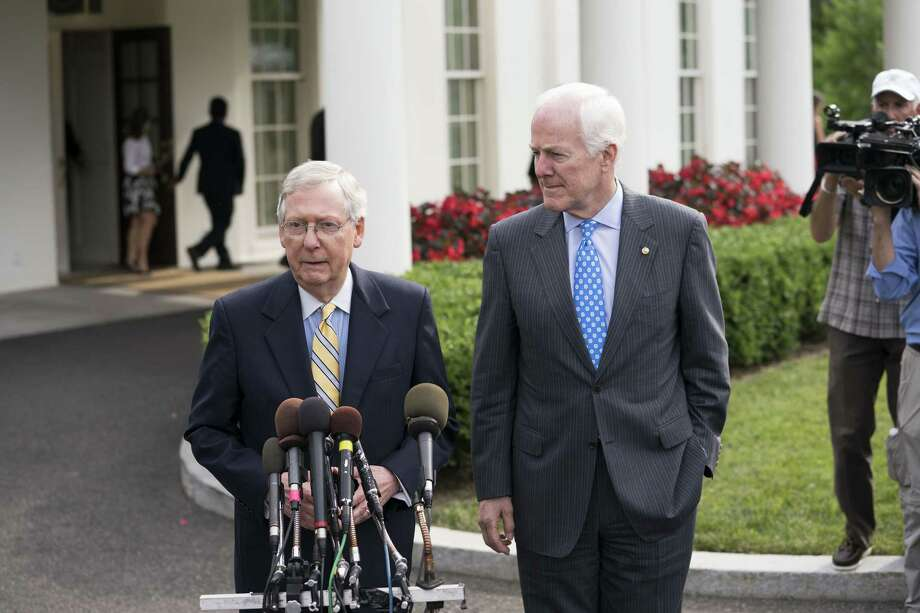 A reader says Republican leaders like Sens. Mitch McConnell (left) and John Cornyn are mishandling health care legislation. Photo: DOUG MILLS /NYT / NYTNS