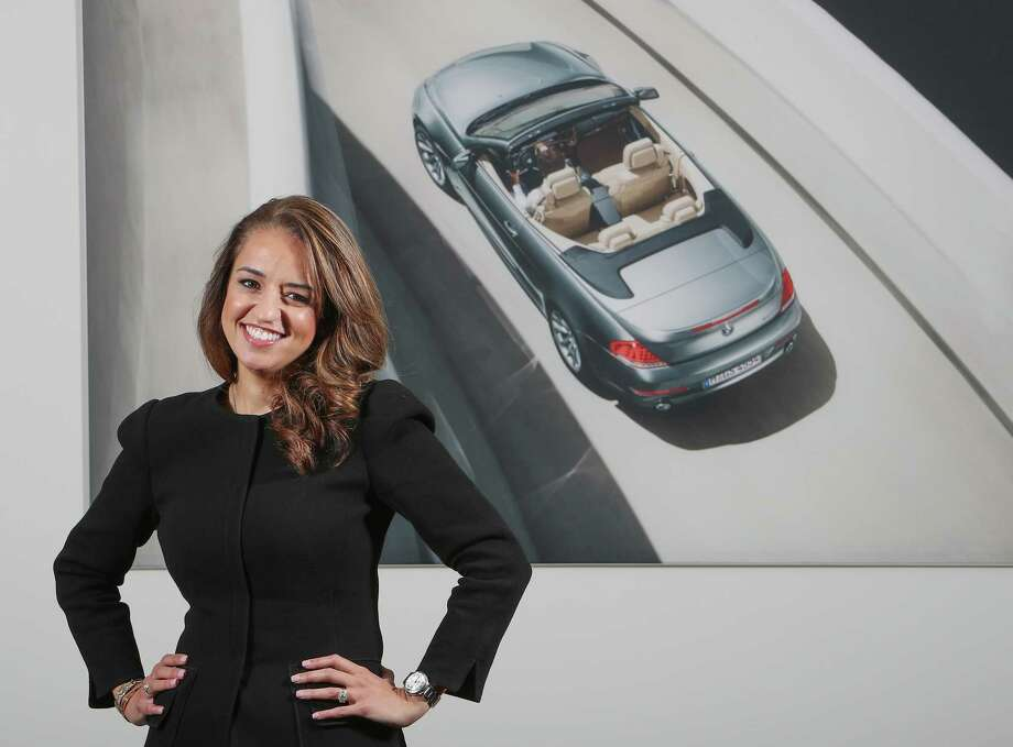 Maria Moncada Alaoui, general manager of the BMW West dealership phtotographed Friday, April 7, 2017, in Katy. She has been in the auto industry for more than 20 years, working her way up from administration and accounting to sales to management. She's one of a handful of female GMs in the BMW company. ( Steve Gonzales  / Houston Chronicle ) Photo: Steve Gonzales, Staff / © 2017 Houston Chronicle