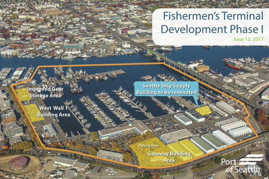 Renderings from the long-term strategic plan for Fishermen's Terminal. Photo: Port Of Seattle