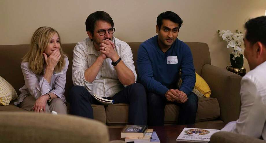 """Holly Hunter, from left, Ray Romano and Nanjiani star in """"The Big Sick,"""" which is in some ways a standard romantic comedy but also feels like a sudden look at a new norm. Photo: Nicole Rivelli, HONS / © WHILE YOU WERE COMATOSE, LLC"""