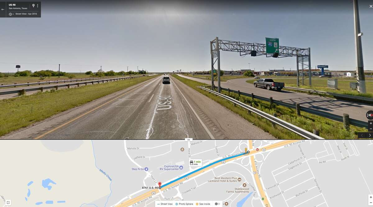 Sunday - Monday, July 9 - 10 9 p.m. to 5 a.m. U.S. 90 from Loop 410 to Hunt Lane Crews will close all lanes of westbound US 90 from I-410 to Hunt Lane to place barrier and permanently close the exit to Hunt Lane.