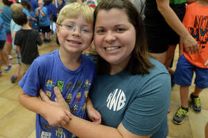 """Skylar and Kasey Willison were at the Texas Energy Museum's """"Bubble Day"""" event at the Rogers Park Community Center Friday. Several stations inside the center offered hands-on learning about the science of soap bubbles, while outdoors children played in the suds-filled pools, making and catching giant bubbles. Photo taken Friday, July, 7, 2017 Kim Brent/The Enterprise"""