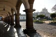 Antigua Guatemala Cathedral on the Plaza Mayor, Antigua�s main square.
