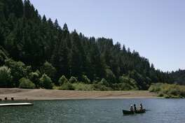 Monte Rio, CA– View of the beach at exclusive Bohemian Club's Russian River encampment, August 16, 2006. The club wants to double logging in its 2,700–acre property in Sonoma County, about 70 miles north of San Francisco.