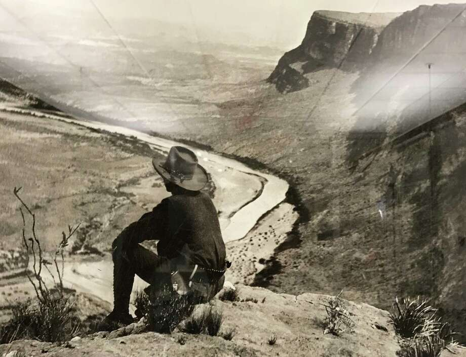 E.E. Townsend, shown perched on a canyon rim above the Rio Grande, would come to be known as the father of Big Bend National Park. / handout
