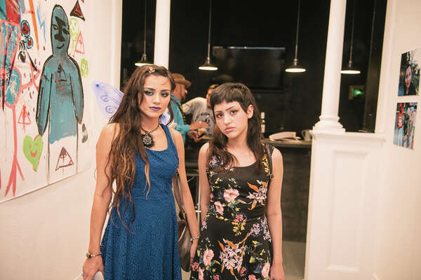 """Presa House Gallery hosted the Ojos Hacia El Futuro/Eyes to the Future"""" fundraising exhibition and art sale to benefit San Anto Cultural Arts' youth arts and community mural program Friday July 7, 2017. It featured work by artists ages 8-19."""