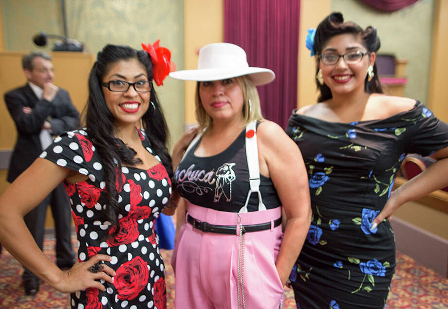 The Historic Guadalupe Theater celebrated its 75th anniversary with a nod back to its early days with a variety show featuring film shorts, dance and music Friday night July 7, 2017. Photo: B. Kay Richter For MySA