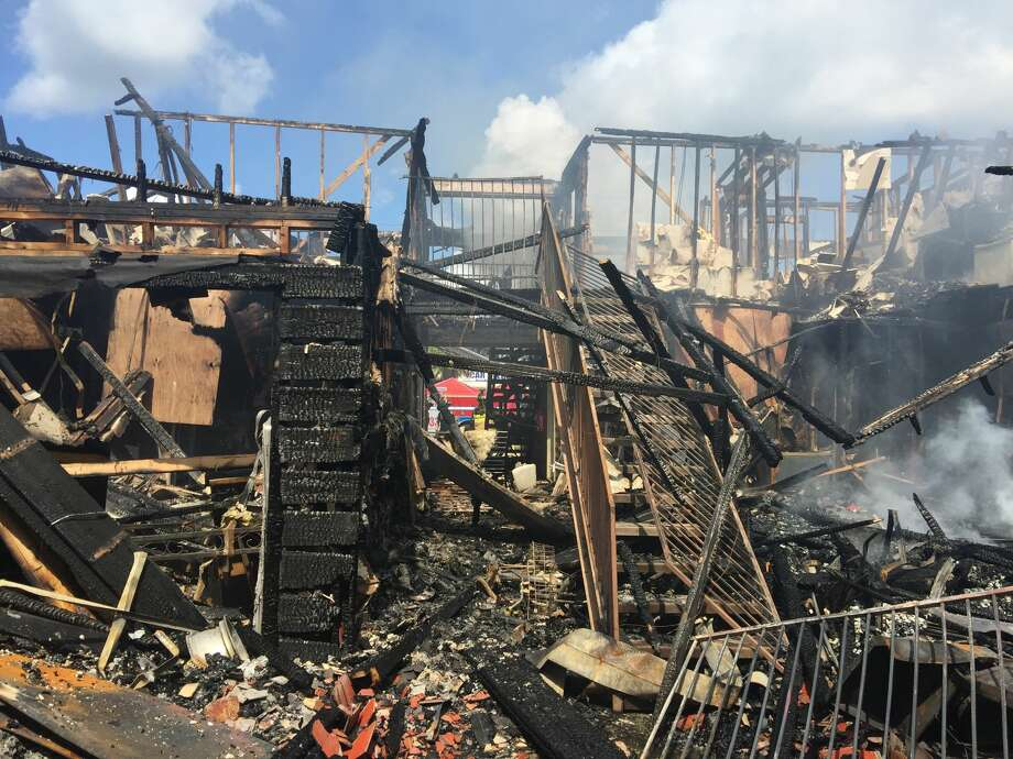 An apartment fire in Crosby ignited early Saturday, July 8. Photo: Rachel Moreno, Harris County Fire Marshal's Office