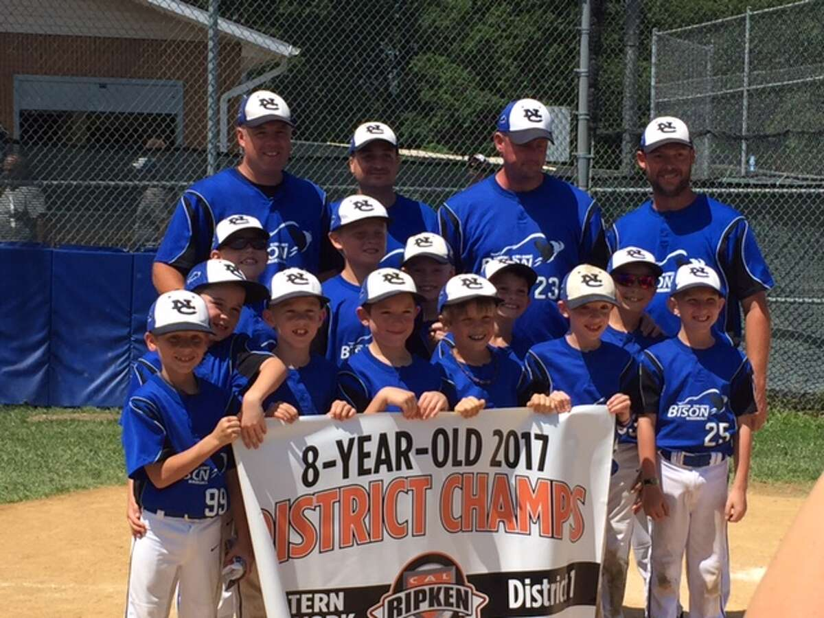 The North Colonie 8U Blue All-Star team captured the Eastern New York State District 1 Cal Ripken championship this past weekend. The team outscored opponents 47-8 over the three games in the tournament. The now advance to the Eastern New York State tournament in Yonkers which begins on July 14th. Pictured are, from left, front row: Brad Ives, Caden Ditzel, Brennan Thomas, Collin Tice, Jack Basila and Lucas Malinoski. Second row: Brayden McElroy, Ian Bruce, Braden White, Austin Marohn, Trevor Bedard and Christopher Petromelis. Coaches: Kris Ditzel, Aaron Malinoski, Mike Marohn and Scott Bedard.